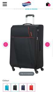 Joyride spinner expandable suitecase £44 each if buying 3 - £128.25 @ American tourister