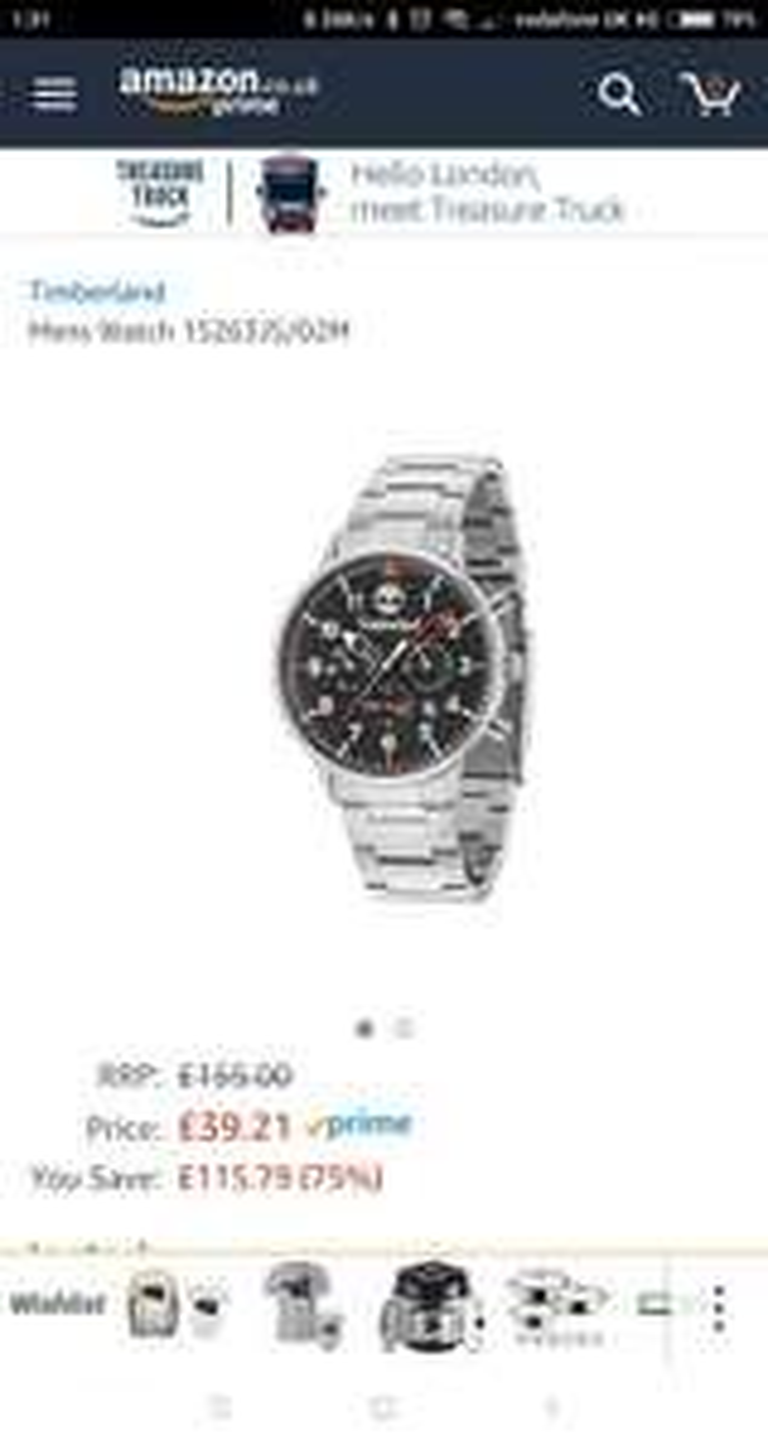 Mens chronograph timberland watch £38.77 Amazon