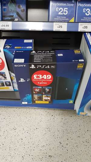 PS4 Pro and 4 games £349 at SAINSBURY'S IN STORE