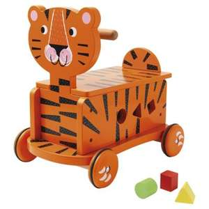 Carousel Wooden Ride Along Tiger was £35 now £11.66 C+C @ Tesco Direct