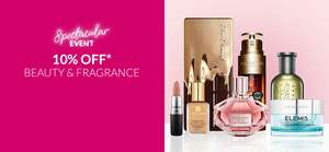 Spectacular event 10% off selected beauty & fragrance at Debenhams