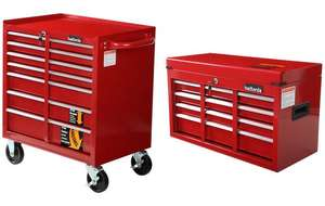 Halfords 7 Drawer Mobile Tool Chest and Halfords 6 Drawer Tool Chest Bundle - £150