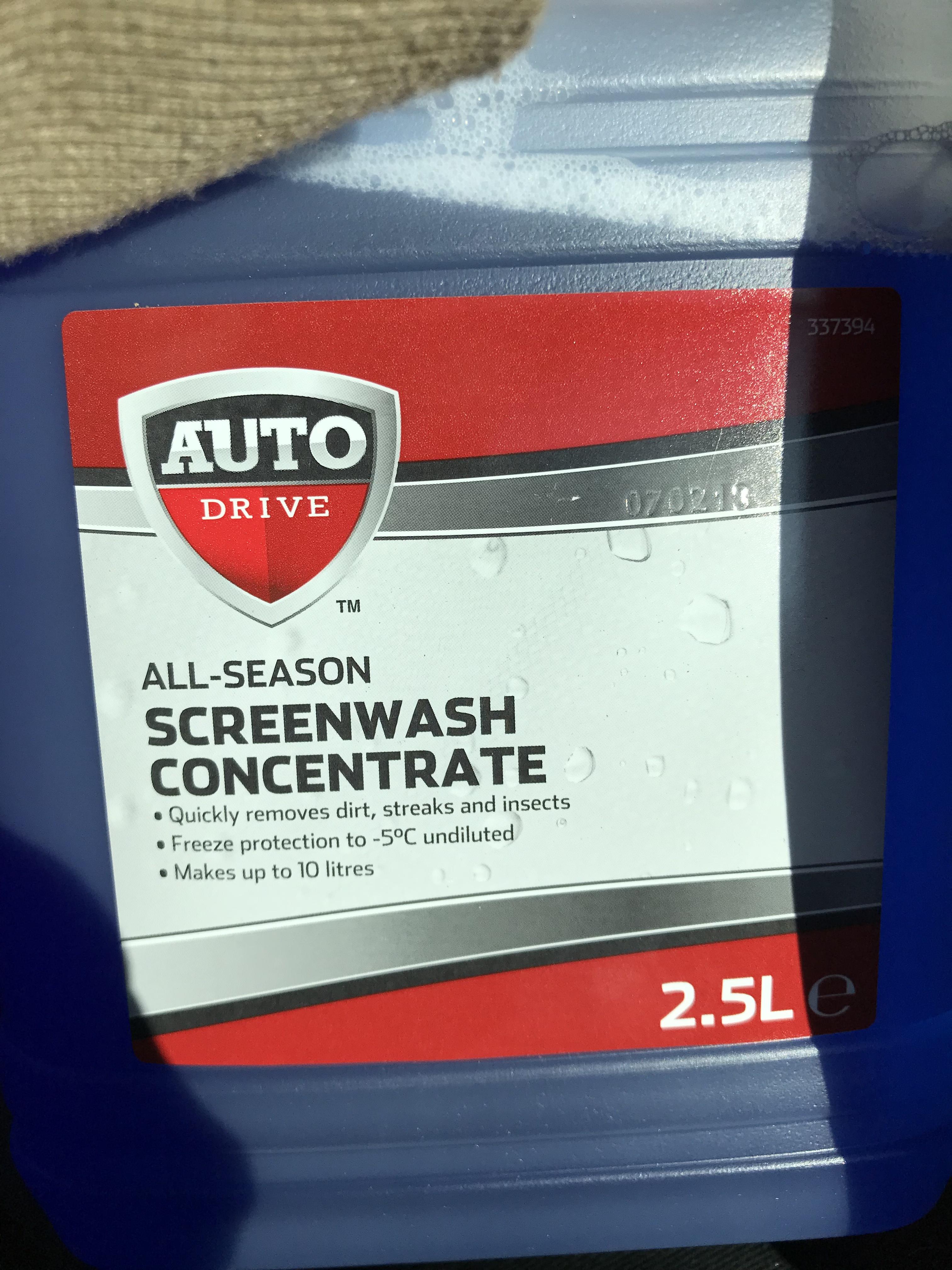 Auto Drive screenwash concentrate 2.5l - 25p instore at Asda