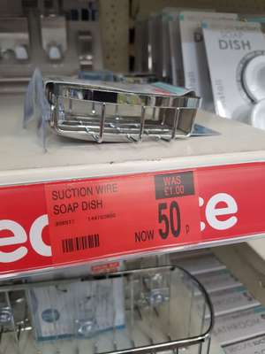 Suction soap dish 50p at B&M instore