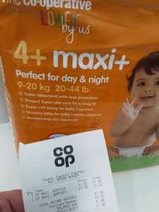 The Co-operative 4+ Maxi+ Nappies 22s - £1 instore
