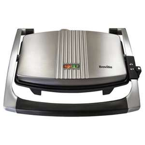 Breville VST025 3 Slice Sandwich Toaster and Panini Maker - Brushed Stainless Steel £25 at Tesco
