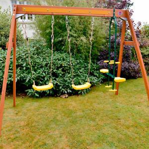 Plum Wooden Double Swing & Glider Set £104.98 Delivered @ eBay / gardenhomeclearance (Dobies of Devon)
