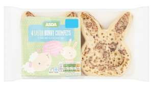 4 x Easter Bunny crumpets £1 - online and instore @ Asda