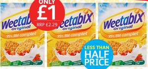 Weetabix 24 pack Only £1 @ Poundstretcher