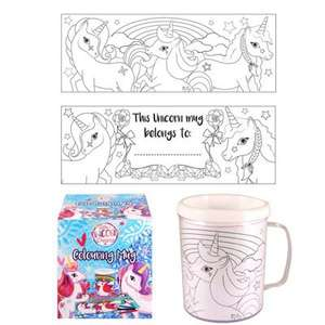 Unicorn Colouring Mug £1.99 C+C @ Tesco Direct