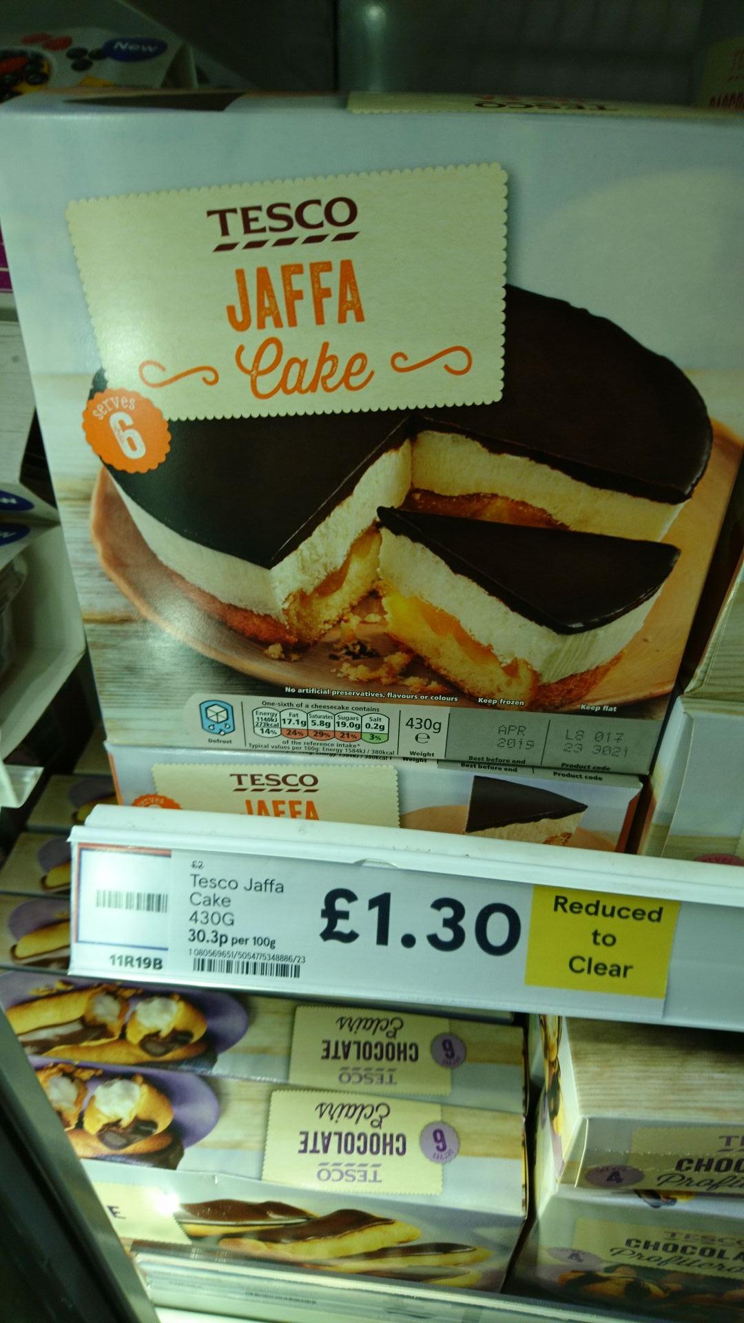 Jaffa cake....... Cake £1.30 instore @ tesco