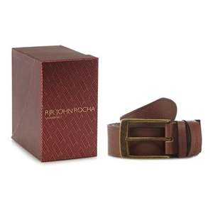 RJR.John Rocha - Tan leather belt in a gift box + Free Delivery with code SH4Z at Debenhams - £17.50
