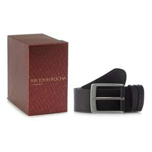 RJR.John Rocha-Black leather belt in a gift box + Free Delivery with code SH4Z at Debenhams