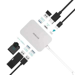 dodocool 7 in 1 USB-C Hub with Power Delivery, 4K Video HD Port, SD/TF Card Reader, 3 SuperSpeed USB 3.0 Ports £18.99 Prime / £22.98 Non Prime w/promo @ Amazon (Sold by HOME-Victory / FBA)