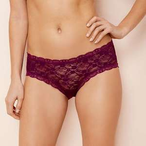 Debenhams The Collection - Dark purple lace shorts - ALL sizes available and FREE delivery using code SH4Z - £3.60