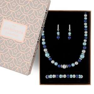 Jon Richard - Tonal blue pearl jewellery set was £18 now £6 @ Debenhams