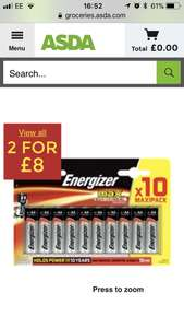 20 AA batteries for £8.00 @ ASDA