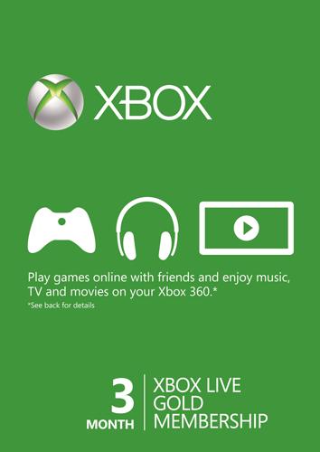 3 Month Xbox Live Gold Membership - £8.54/£8.99 - CDKeys