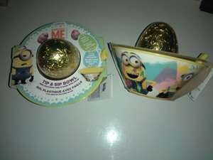 Minions Easter egg with bowl - Home bargains. This was found in South Shields store - 99p