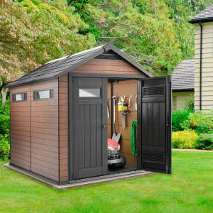 "Keter Fusion 7ft 6"" x 9ft 5"" (2.3 x 2.9 m) Shed £899.89 @ Costco"
