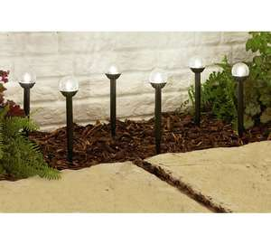 HOME Crackle Glass Ball Solar Lights - Set of 6 + Free click and collect at Argos - £5