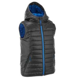 HIKE 500 BOYS' GILET - BLACK @ decathlon - £5.19