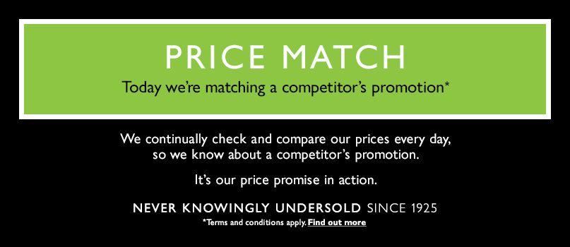 John Lewis Price Match now live