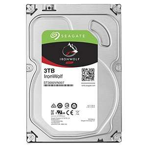 Seagate 3 TB IronWolf 3.5 Inch 5900 RPM Internal Hard Drive for 1-8 Bay NAS Systems (64 MB Cache, 180 TB/Year Workload Rate, Up to 180 MB/s) £84.20 Amazon
