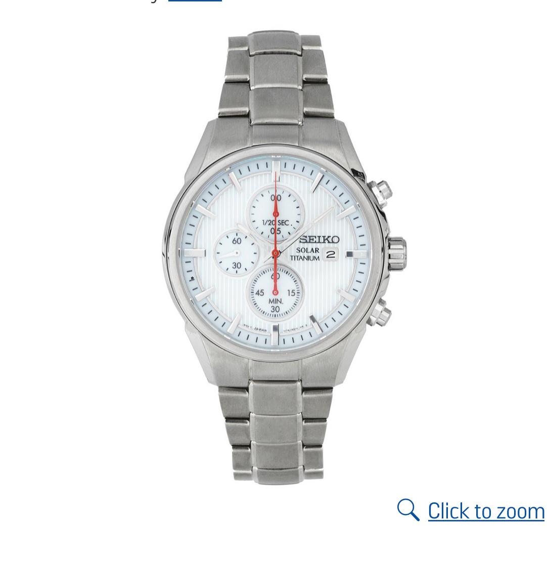 Seiko Men's Solar Powered Chrono Bracelet Watch £106.99 @ Argos free c&c