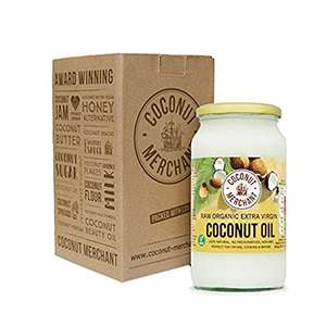 1 Litre Coconut Merchant Organic Raw Extra Virgin Coconut Oil - £9.49 Subscribe & Save Amazon Prime price