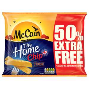 McCain The Home Chip Straight 1.5kg - £1.80 at Iceland