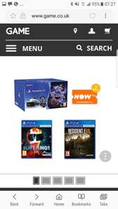 Playstation VR + superhot VR + Resident evil VR + 2 months now tv pass. £299.99 GAME
