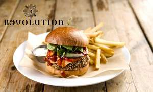 Pizza or Burger and Cocktail for 1 £7.65 / 2 people £15.30 or for 4 people £30.60 with code @ Revolution Bars (nationwide) via Groupon