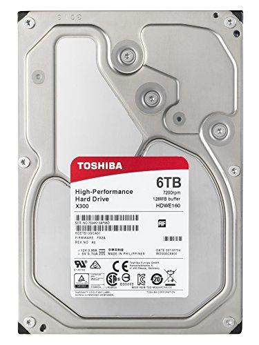 "Toshiba X300 6TB 7200RPM 128MB 3.5"" HDWE160EZSTA SATA HDD £144.49 @ Amazon"
