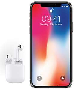 iPhone X 64GB + FREE AirPods Ultd Mins Ultd Texts 40GB Data No Upfront Cost £64.50 / 24 mths - virginmedia