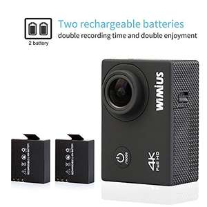 4K Action Camera + 2 Batteries + Accessories - £30.39 using 20% off promo - Sold by WiMiUS Authorized-UK and Fulfilled by Amazon