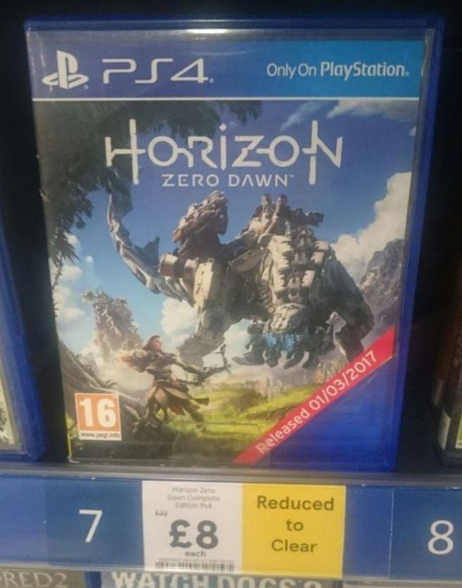 Horizon Zero Dawn Complete Edition PS4 £8 instore @ tesco