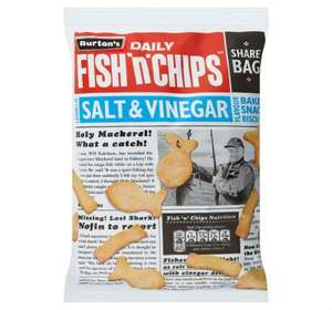 3 x 125g bags of salt and vinegar fish and chips £1 @ farmfoods