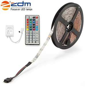 ZDM Waterproof 5M 24W RGB Smd Light Led Strip with Remote Control £3.61 Delivered @ Rosegal