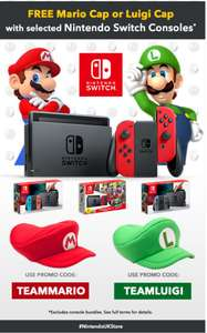 Free Mario or Luigi cap with selected Switch consoles @ Nintendo