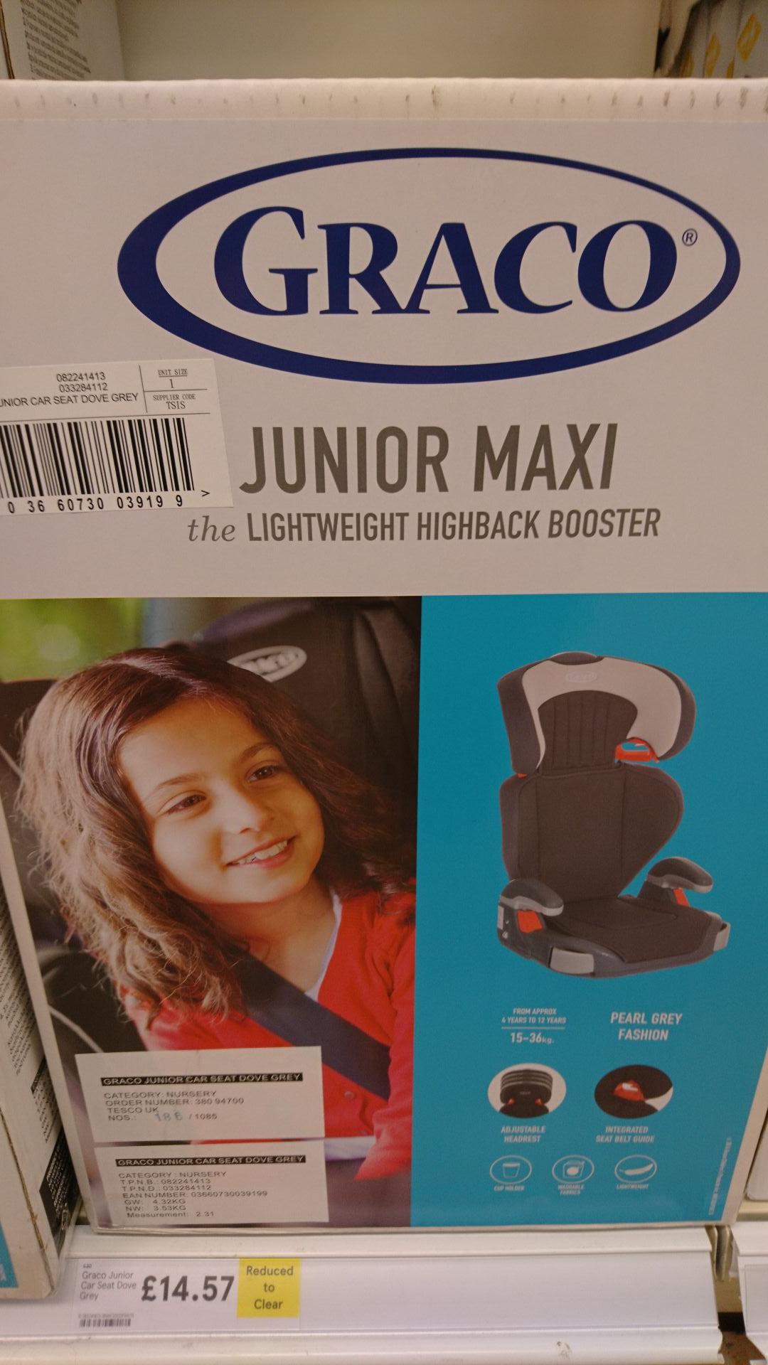 Graco Junior maxi highback booster seat £14.57 instore @ tesco