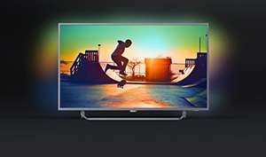 Philips 50PUS6272/05 50-Inch 4K Ultra HD Smart TV with Ambilight 3-sided, HDR Plus, Freeview Play - Dark silver (2017 Model) £419 Amazon