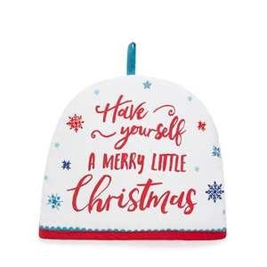 At home with Ashley Thomas - Multi-coloured 'Have Yourself a Merry Little Christmas' print tea cosy £4.80 + Free Delivery with code SH4Z at Debenhams