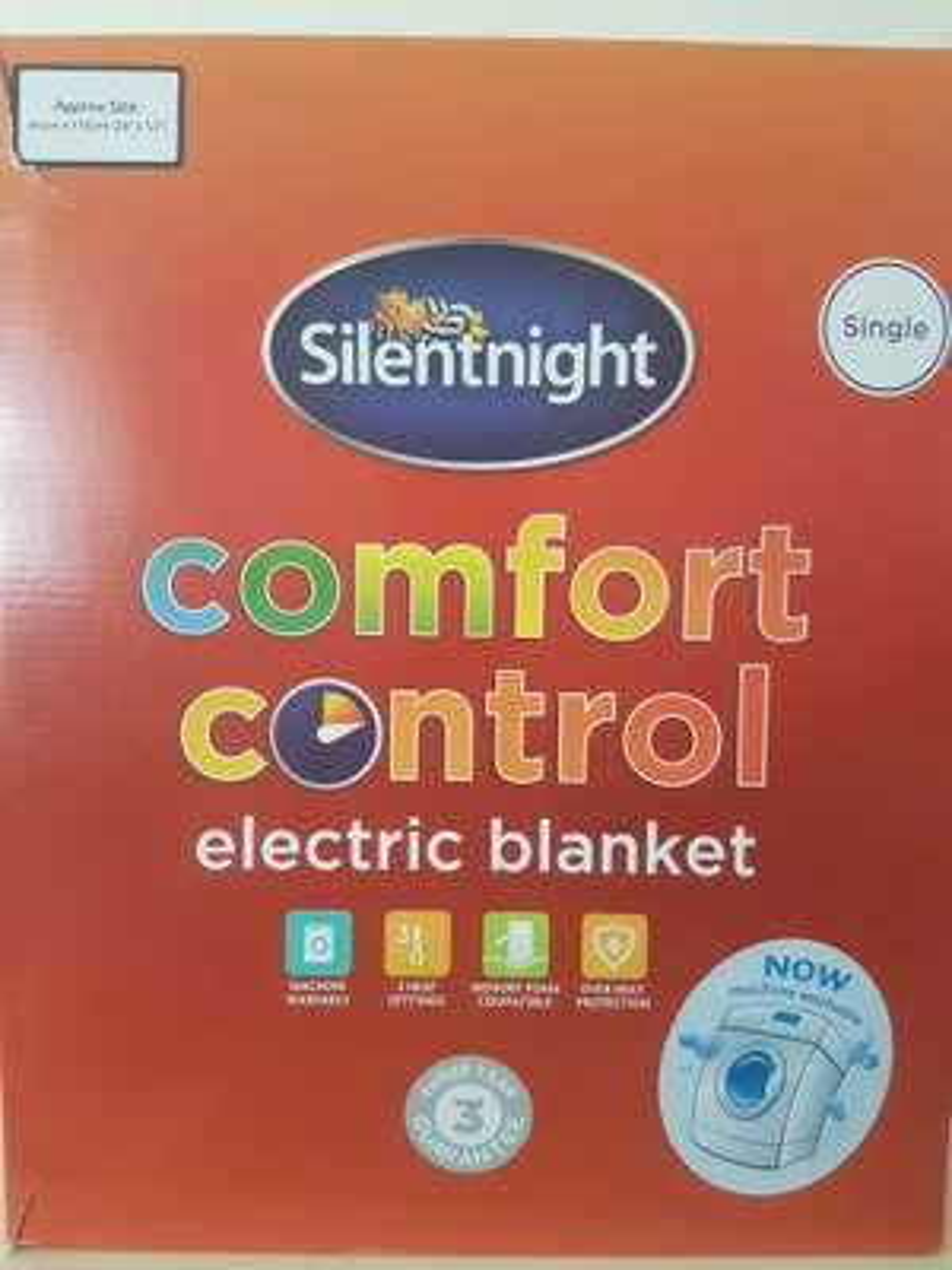 Silentnight single electric blanket £4 Asda instore