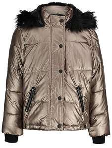 Faux fur padded hooded shower resistant parka age 10-11 now £15 was £24 @ Asdageorge