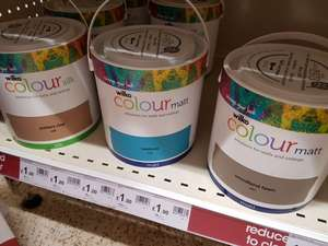 2.5ltr Wilko paint only £1 instore