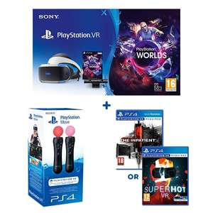 PlayStation VR Starter Pack, Move Twin Pack & Superhot or Inpatient £349.99 - Smyths Toys