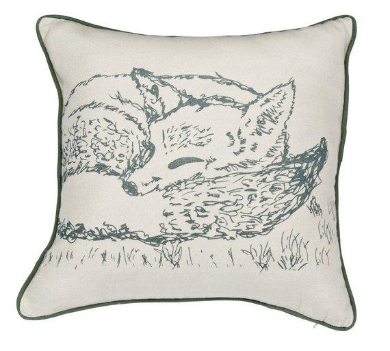 Heart of house furry friend fox- check reversible cushion £3.99 @ Argos