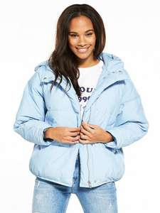 V by Very Short Oversized Padded Jacket in Pale Blue was £55 now £27.50 C+C @ Very