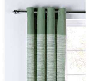 Norfolk eyelet curtains green,blue,stone £5.99 charcoal £6.99 was £16.99 @ Argos